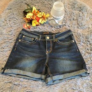 Seven7 Dark Wash Jean Shorts Size 6
